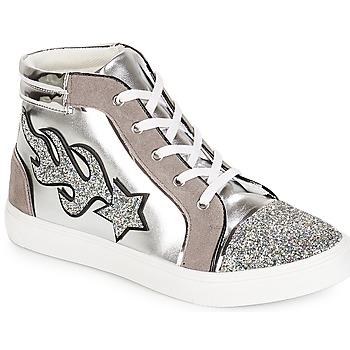 Scarpe Donna Sneakers alte André LOTUS Argento