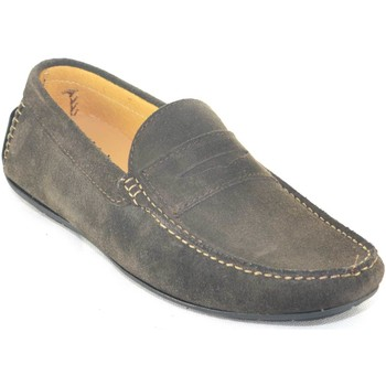 Scarpe Uomo Mocassini Interland mocassino car shoes uomo testa di moro comfort casual made in i MARRONE