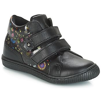 Scarpe Bambina Sneakers basse Citrouille et Compagnie JUPETTE Nero / Fleurs