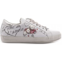 Scarpe Donna Sneakers basse Méliné - Made In Italy Méliné Sneakers Donna Pelle Galaxy Bianco Graffiti bianco
