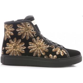 Scarpe Donna Sneakers alte Stokton Sneakers Donna Velluto 620-D nero