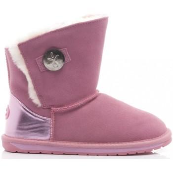 Scarpe Bambina Stivali da neve EMU EMU Stivaletti Bambina Denman Kids Camoscio Pink rosa