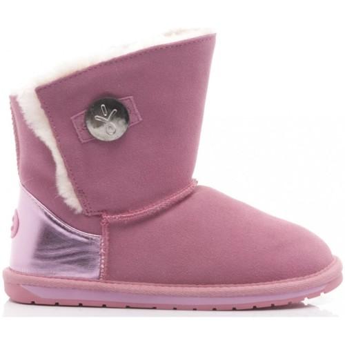 vendite all'ingrosso immagini dettagliate scarpe casual EMU EMU Stivaletti Bambina Denman Kids Camoscio Pink rosa - Scarpe ...