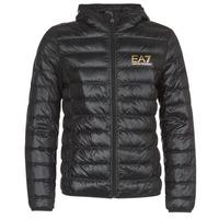 Abbigliamento Uomo Piumini Emporio Armani EA7 TRAIN CORE ID M DOWN LIGHT Nero / Oro