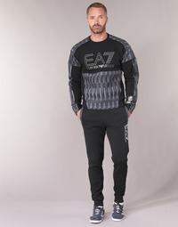 Abbigliamento Uomo Pantaloni da tuta Emporio Armani EA7 TRAIN TRITONAL M PANTS CH BR Nero / Grigio