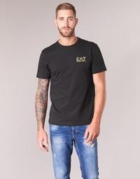 Abbigliamento Uomo T-shirt maniche corte Emporio Armani EA7 JAZKY Nero / Oro