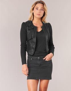 Abbigliamento Donna Giacca in cuoio / simil cuoio Morgan VUIR Nero