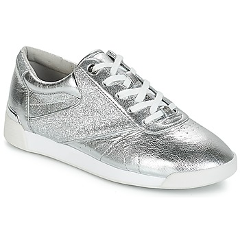 Scarpe Donna Sneakers basse MICHAEL Michael Kors ADDIE LACE UP Argento