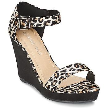 Scarpe Donna Sandali Moony Mood IVONGA Nero / Leopard
