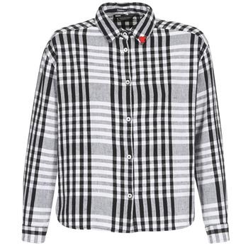 Abbigliamento Donna Camicie Scotch & Soda FRINDA Nero / Bianco