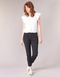 Abbigliamento Donna Pantalone Cargo Scotch & Soda ZERATRE Nero / Bianco