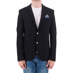 Abbigliamento Uomo Giacche / Blazer Devid Label GIACCA PUNTO MILANO  DLG525NERO Nero