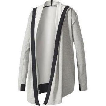 Abbigliamento Donna Felpe adidas Originals Wrap ME UP Coverup Grigio