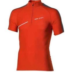 Abbigliamento Donna T-shirt maniche corte Asics 1/2 ZIP TOP FW12 421016-0540 orange