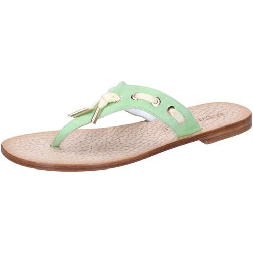Eddy Daniele scarpe donna sandali verde camoscio aw326 Verde - Scarpe Sandali Donna 39,00