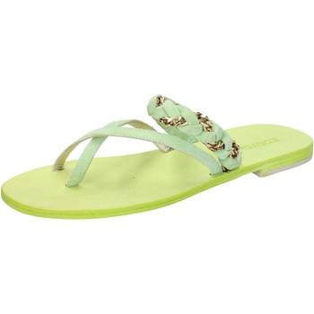 Scarpe Donna Sandali Eddy Daniele sandali verde camoscio aw169 Verde