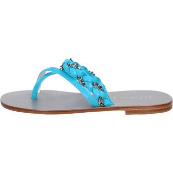 Scarpe Donna Sandali Eddy Daniele sandali celeste camoscio aw193 blu
