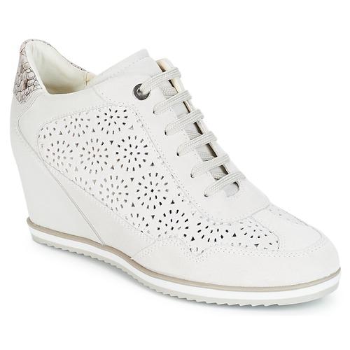 Geox D ILLUSION Bianco Scarpe Sneakers alte Donna 101,50