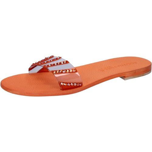 Eddy Daniele scarpe donna sandali arancione plastica con cristalli swarovski Arancio - Scarpe Sandali Donna 39,00