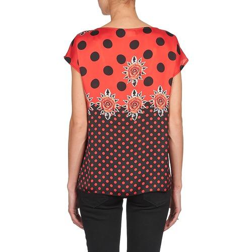 Moda T Corte Donna Abbigliamento Maniche Consegna Gratuita shirt RossoNero Alba 3000 Bettina 2WIDHE9