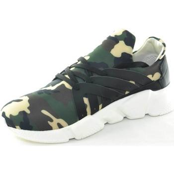Scarpe Uomo Sneakers basse Made In Italy Scarpe uomo calzino lycra camouflage mimetico fondo bianco antis MULTICOLOR