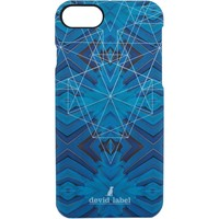 Borse Fodere cellulare Devid Label GEOMETRIC IPHONE CASE | BLU |  | CVGEBL Blu