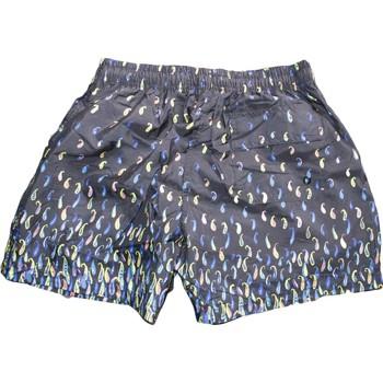 Abbigliamento Uomo Shorts / Bermuda Avana Costume uomo art.  09873 pantaloncino corto fantasia con laccio BLU