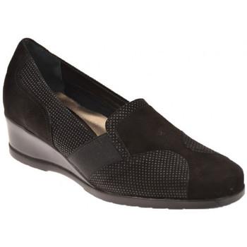 Scarpe Donna Mocassini Confort Pigmentato con Elastico Mocassini nero