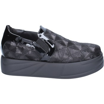 Scarpe Donna Slip on Jeannot scarpe donna  slip on mocassini nero paillettes BX129 Nero