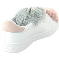 Scarpe Donna Sneakers basse Malu Shoes scarpe donna sneakers bassa bianco femminili pelle con applicazi BIANCO