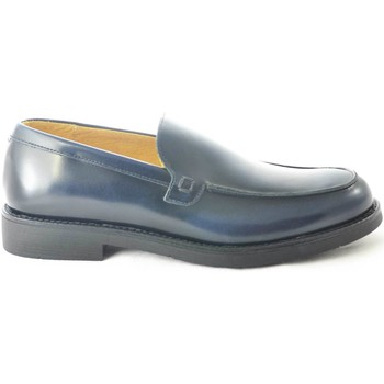 Scarpe Uomo Mocassini Malu Shoes Scarpe uomo mocassini inglese college vera pelle abrasivato blu BLU