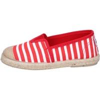 Scarpe Bambino Espadrillas Cienta espadrillas rosso tessuto bianco profumate BX287 Rosso