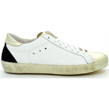 Scarpe Donna Sneakers basse Thc Collections +THC+ COLLECTIONS IN135-3 LAMINATO PLATINO - VIT.BIANCO Bianco
