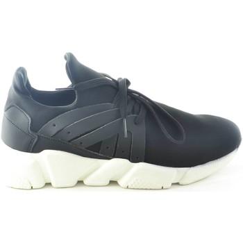 Scarpe Uomo Sneakers basse Malu Shoes SCARPE UOMO CALZINO LYCRA NERO FONDO BIANCO ANTISTATICA E ANTIS NERO