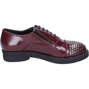Scarpe Donna Derby Francescomilano classiche bordeaux pelle borchie BX326 Rosso