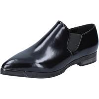 Scarpe Donna Mocassini Francescomilano scarpe donna  slip on mocassini nero pelle BX327 Nero