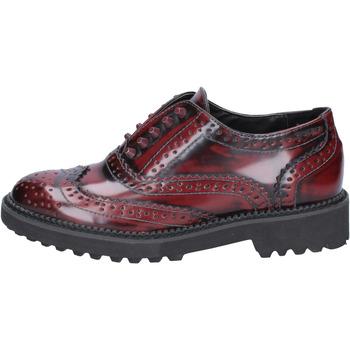 Scarpe Donna Derby Francescomilano scarpe donna  classiche bordeaux pelle BX331 Rosso