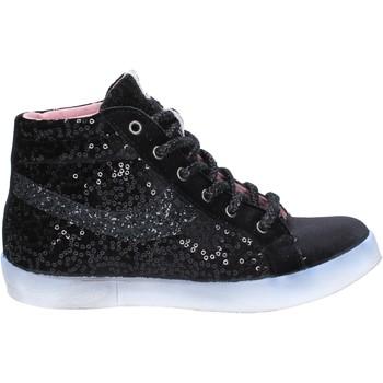 Scarpe Donna Sneakers alte Fiori Di Picche BX345 Nero
