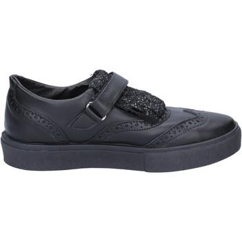 Scarpe Donna Derby 2 Stars 2 STAR sneakers nero pelle glitter BX380 Nero