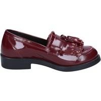 Scarpe Donna Mocassini Emanuélle Vee scarpe donna  mocassini bordeaux pelle BX382 Rosso