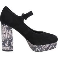 Scarpe Donna Décolleté Emanuélle Vee scarpe donna  decolte nero camoscio BX384 Nero