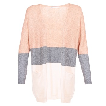 Abbigliamento Donna Gilet / Cardigan Only ONLQUEEN Rosa / Grigio
