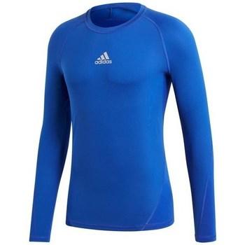 Abbigliamento Uomo T-shirts a maniche lunghe adidas Originals Alphaskin LS Blu