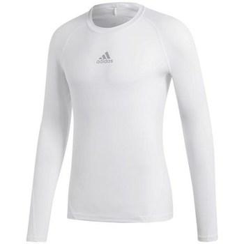 Abbigliamento Uomo T-shirts a maniche lunghe adidas Originals Alphaskin Sport LS Bianco