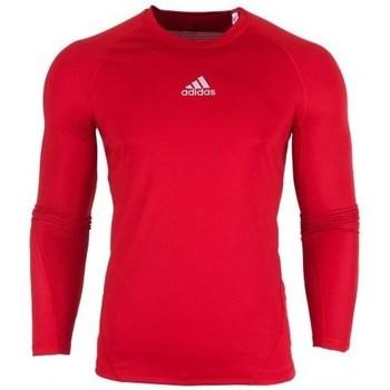 Abbigliamento Uomo T-shirts a maniche lunghe adidas Originals Alphaskin LS Rosso