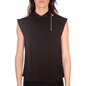 Abbigliamento Donna Top / T-shirt senza maniche Tcqb Top Sirene Noir Nero