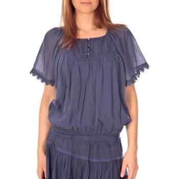 Abbigliamento Donna Top / Blusa Vision De Reve vision de rêve t-shirt 9007 bleu Blu