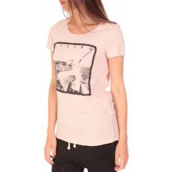 Abbigliamento Donna T-shirt maniche corte Vero Moda Top BBB Living Gracefully SS Rose Rosa