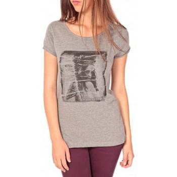 Abbigliamento Donna T-shirt maniche corte Tom Tailor T-shirt With Print Gris Grigio