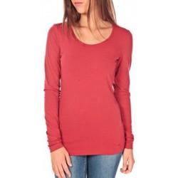 Abbigliamento Donna T-shirts a maniche lunghe Tom Tailor Lara Stretch Longsleeve Rouge Rosso